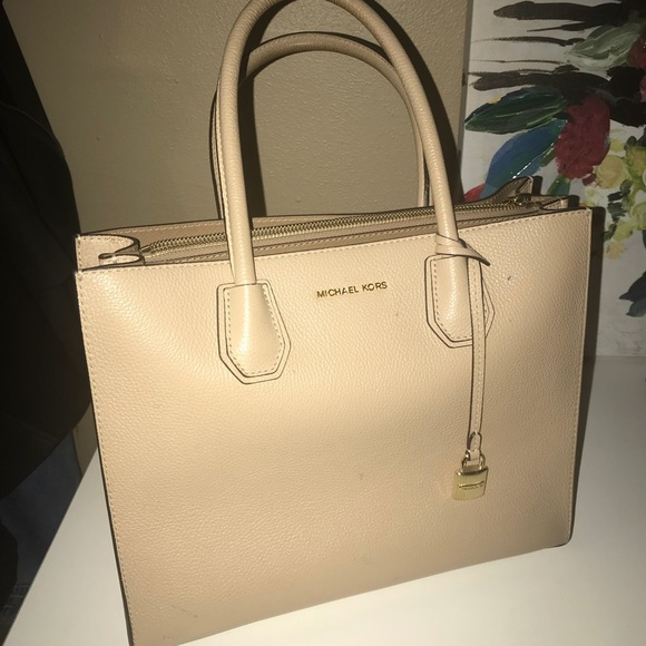 71f83b3e3f81f1 Michael Kors Bags | Mercer Large Leather Tote | Poshmark
